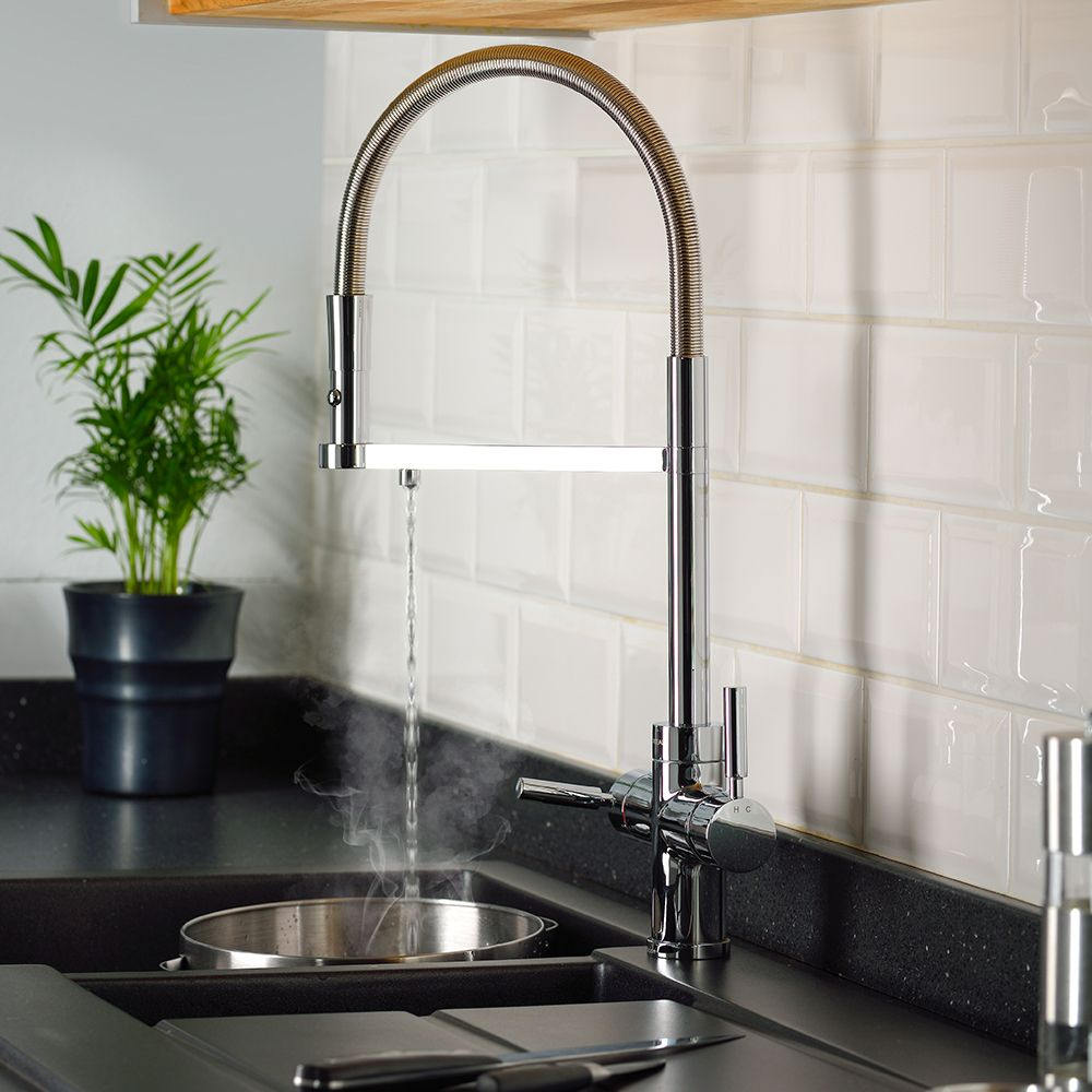Professional Kitchen: Abode PRONTEAU Professional Monobloc 3 In 1 Pull Out Hose