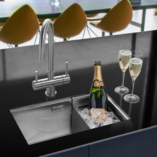 Caple ZONA 100 Stainless Steel Kitchen Sink with Accessories