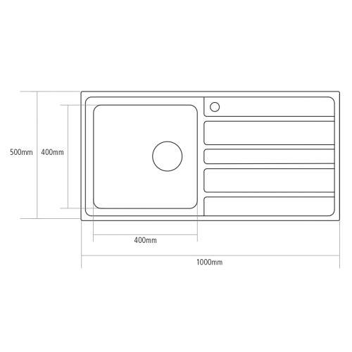 Caple VERTICE 100 Inset Stainless Steel Kitchen Sink