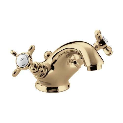 Bristan 1901 Traditional Bathroom Basin Mixer N BAS G CD in Gold