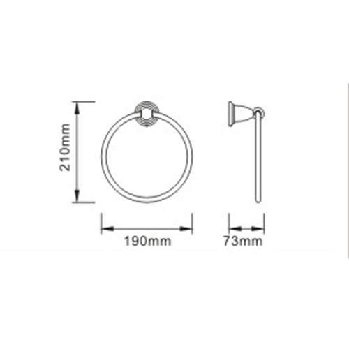 Bristan 1901 Traditional Towel Ring