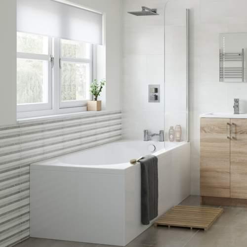 Aquabro Keyhole Modern Single End Bath