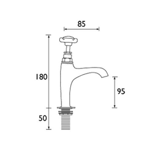Bristan 1901 High Neck Pillar Kitchen Taps - NHNKC