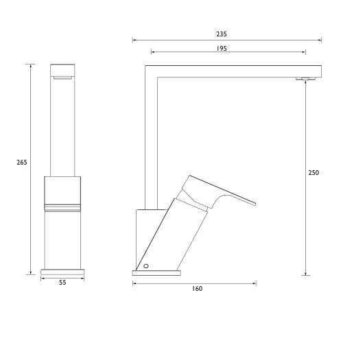 Bristan Amaretto Easyfit Single Lever Kitchen Mixer Tap - AMR EFSNK C
