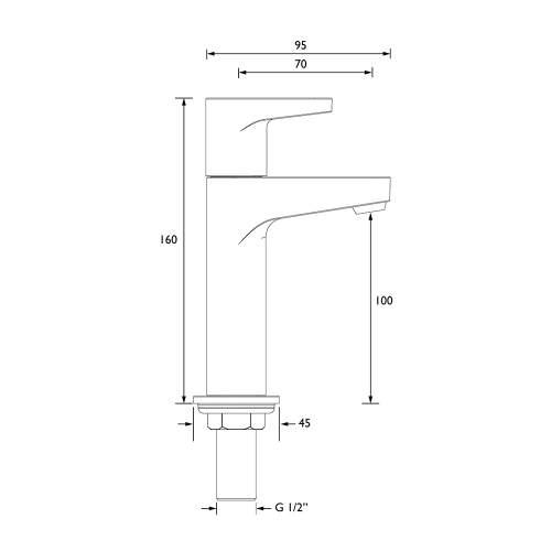 Bristan Quest High Neck Pillar Kitchen Tap