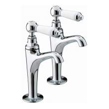 Bristan Renaissance High Neck Pillar Taps