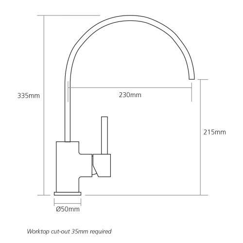 Caple DELTA Single Lever Kitchen Tap