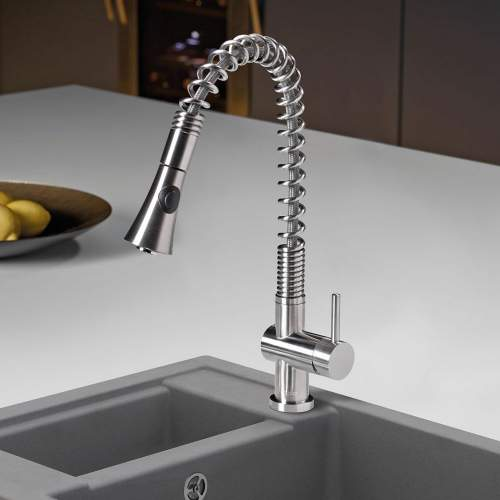 Caple Spiro Stainless Steel Kitchen Tap