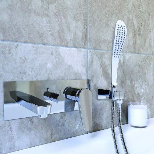 Bristan Claret Wall Mounted Bath Shower Mixer - CLRWMBSMC