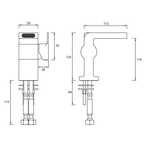 Bristan Exodus Basin Mixer with Clicker Waste - EXD BAS C