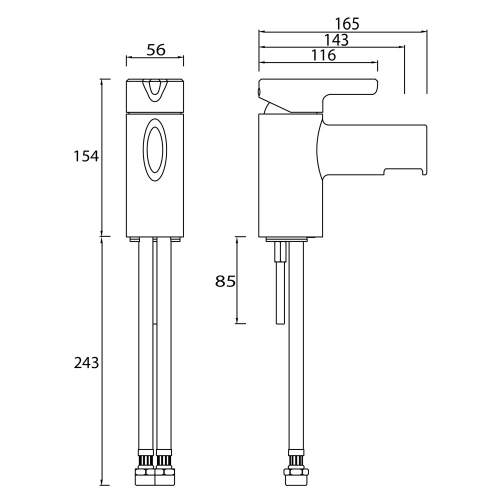 Bristan Flute One Hole Bath Filler - FLT 1HBF C