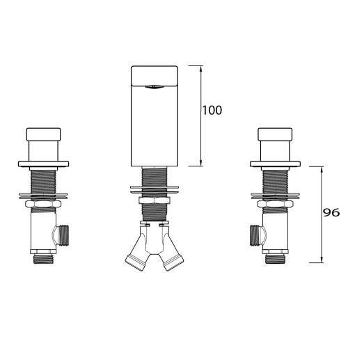Bristan Pivot Three Hole Basin Mixer - PIV 3HBAS C