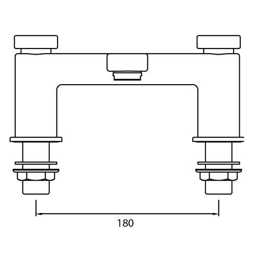 Bristan Pivot Bath Filler - PIV BF C