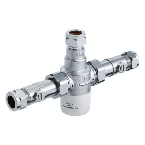 Bristan 15mm Thermostatic Mixing Valve with Isolation - MT503CPISO