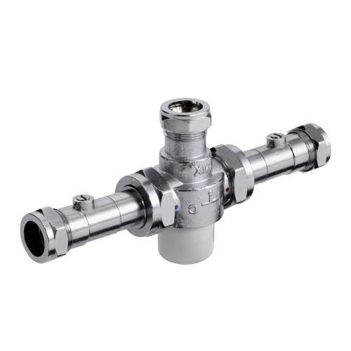 Bristan 22mm TMV3 Thermostatic Mixing Valve with Isolation - MT753CPISO