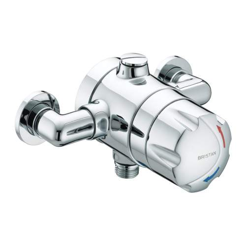 Bristan OPAC Thermostatic Exposed Shower Valve with Chrome Handwheel - OP TS1503 EH C