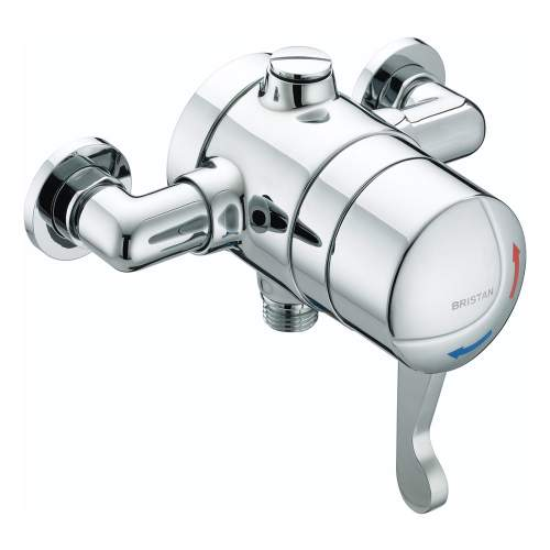 Bristan OPAC Thermostatic Exposed Shower Valve with Chrome Lever - OP TS1503 EL C