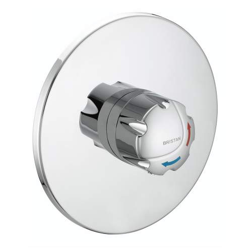 Bristan OPAC Thermostatic Concealed Shower Valve with Chrome Handwheel - OP TS1503 CH C