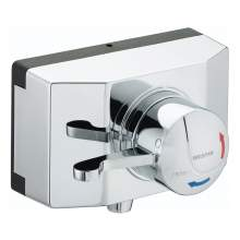 Bristan OPAC Thermostatic Concealed Shower Valve with Chrome Lever and Shroud - OP TS1503 SCL C