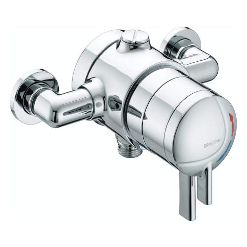 Bristan STRATUS Thermostatic Dual Control Exposed Shower Valve with Chrome Levers - STR TS1875 EDC C