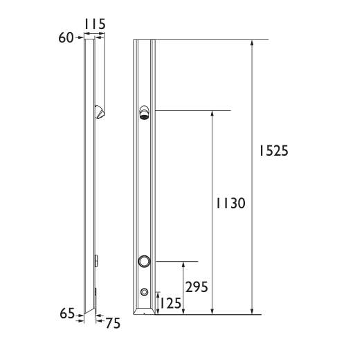 Bristan Thermostatic Timed Flow Infrared Shower Panel with Vandal Resistant Head - TFP3005IR