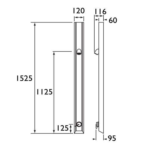 Bristan Shower Panel with Vandal Resistant Head - TFP3000