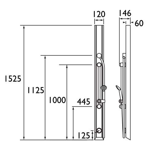 Bristan Shower Panel with Kit - TFP3002
