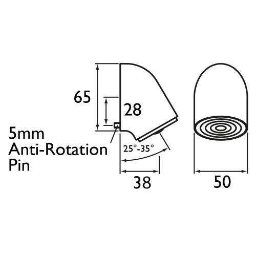 Bristan Vandal Resistant Adjustable Fast Fit Shower Head - VR3000OFF