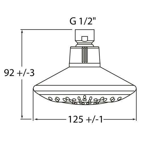 Bristan Contemporary Shower Head - 760955CP