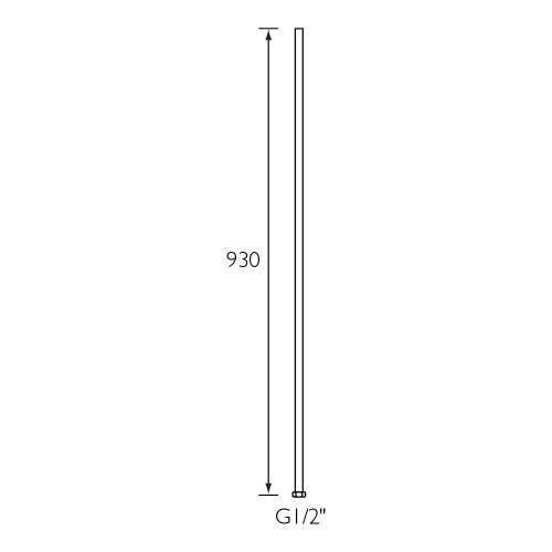 Bristan Chrome Riser Bar - 7197-1