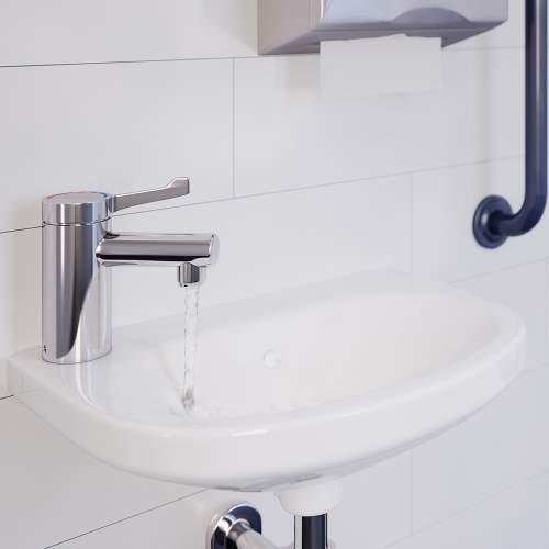 Bristan TMV3 Mono Basin Mixer with Short Lever Handle (no waste) - SOLO2-T3SL