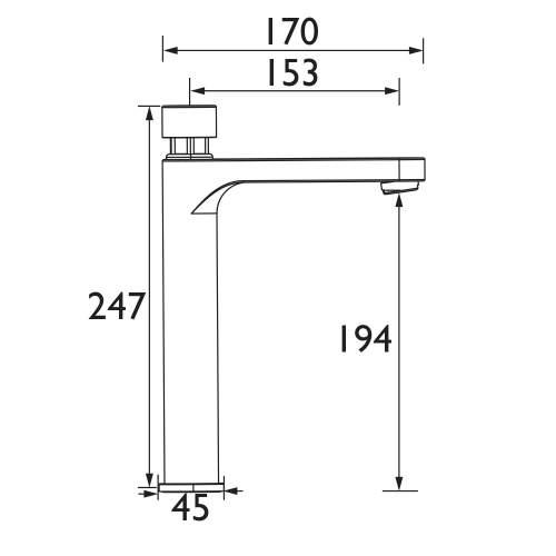 Bristan Timed Flow Control Basin Mixer Tap with Flow Regulator - Z2 TBV 1/2 C