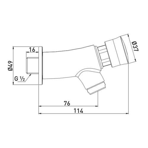 Bristan Single Soft Touch Timed Bib Tap - Z2 BIB C