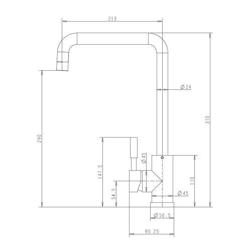 Reginox Acri Single Lever Kitchen Tap