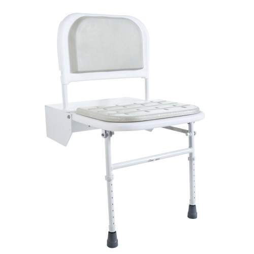 Bristan DocM Height Adjustable Shower Seat with Legs DOCM-SEAT