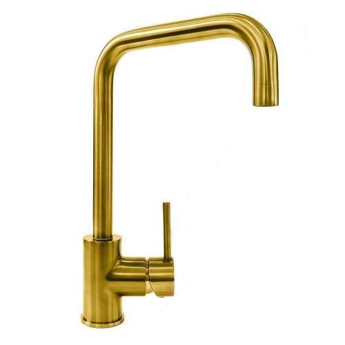 Reginox Acri Single Lever Kitchen Tap in Gold