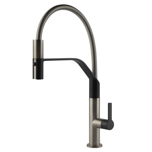 Gessi Mesh Semi Pro Mixer Tap with Woven Metal Pull Out Spout