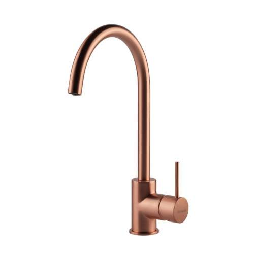 Clearwater Elara Brushed Copper Single Lever Monobloc Kitchen Tap