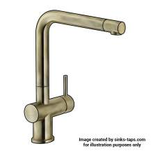 Franke Active Plus Single Lever Kitchen Tap in Brass