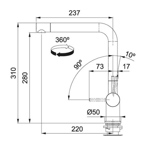 Franke Active Plus Single Lever Kitchen Tap