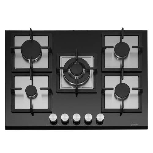 Caple C871GBK Gas-On-Glass Hob