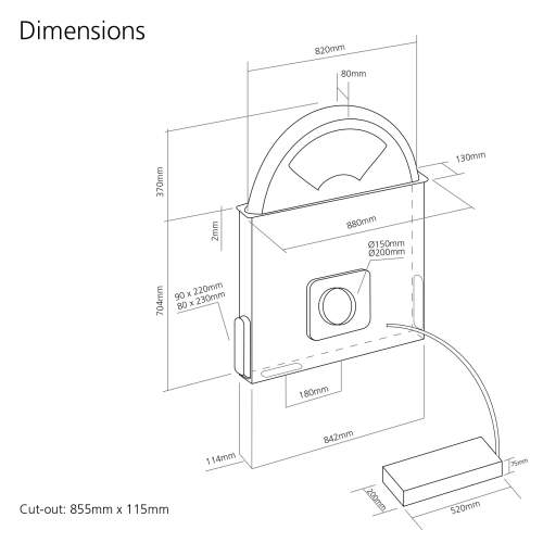 Caple DD925CO Copper Downdraft Extractor