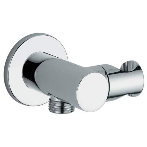 Abode Circular Combined Wall Outlet, Handshower & Bracket in Chrome