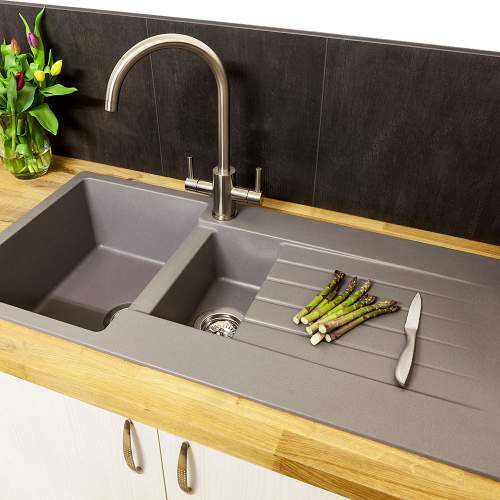 Reginox Harlem 15 1.5 Bowl Granite Sink