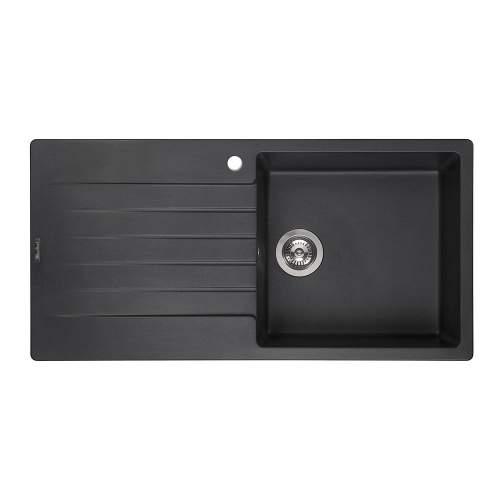 Reginox Harlem 10 Single Bowl Granite Sink in Black