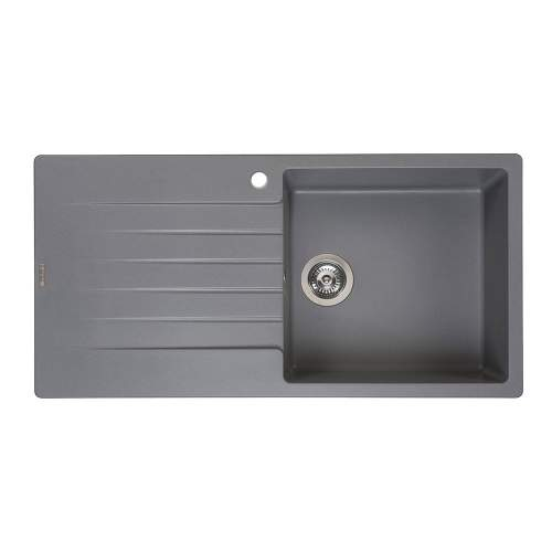 Reginox Harlem 10 Single Bowl Granite Sink in Grey