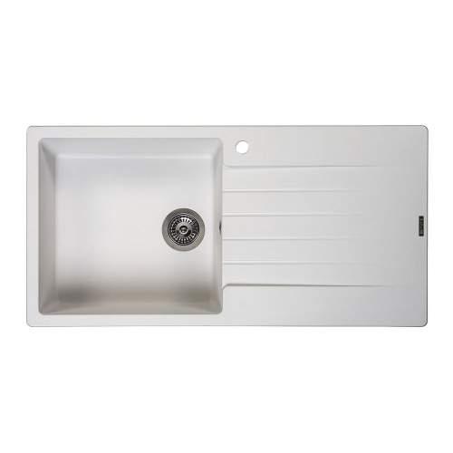 Reginox Harlem 10 Single Bowl Granite Sink in White