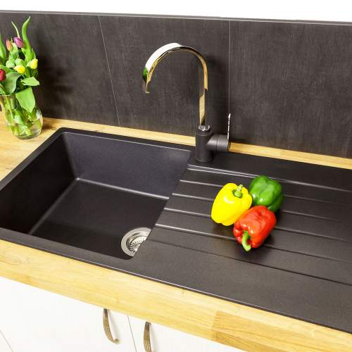Reginox Harlem 10 Single Bowl Granite Sink