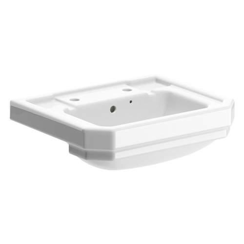 Aquabro 550x450mm 2 Tap Hole Semi Recessed Basin
