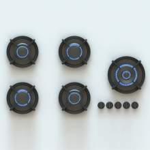 EBEKOXL PITT® by Reginox - 5 PITT Individual Burner Gas Hobs